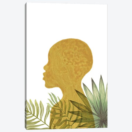 Tropical African Girl II Canvas Print #WWY239} by Whales Way Canvas Art