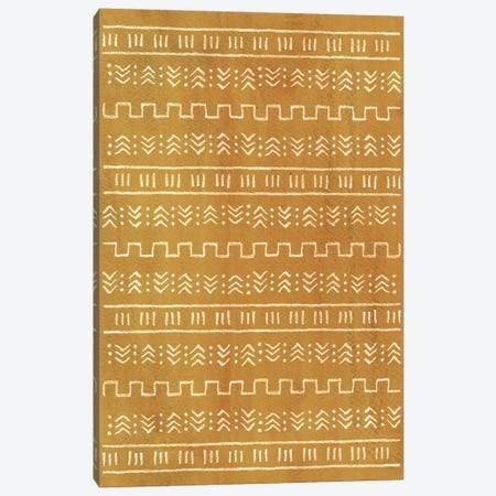 Rust Mustard Aztec Pattern Canvas Print #WWY240} by Whales Way Art Print