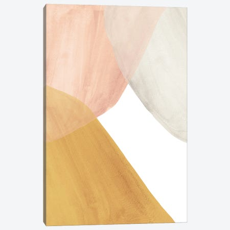 Terracotta And Salmon Pink Watercolor Shapes Canvas Print #WWY242} by Whales Way Canvas Art Print