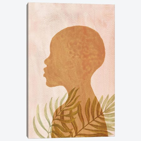 Terracotta And Blush Pink African American Art Canvas Print #WWY243} by Whales Way Canvas Print