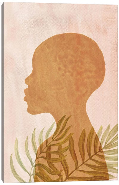 Terracotta And Blush Pink African American Art Canvas Art Print