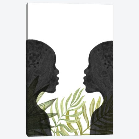 Black Women, African Inspired Canvas Print #WWY245} by Whales Way Canvas Artwork