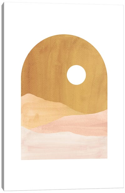 Abstract Boho Landscape Canvas Art Print