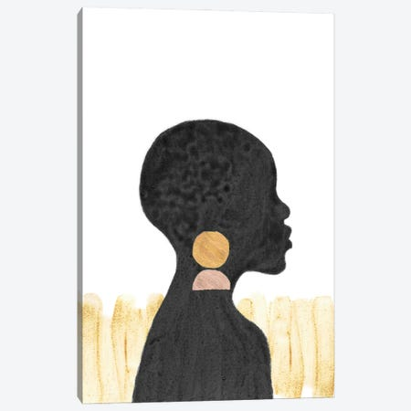 African Black Girl Canvas Print #WWY249} by Whales Way Canvas Print