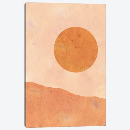 Moon In The Desert Canvas Print #WWY24} by Whales Way Canvas Art Print