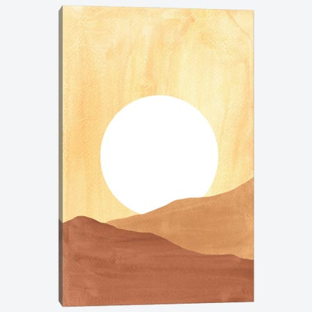 Boho Sun In Dunes Canvas Print #WWY252} by Whales Way Canvas Artwork