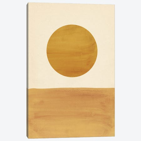 Minimalist Rust Mustard Landscape Canvas Print #WWY253} by Whales Way Canvas Wall Art