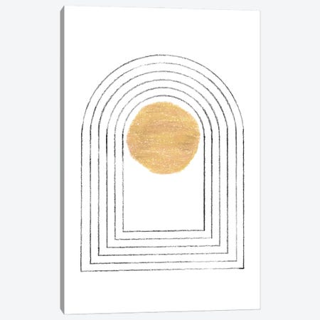 Minimalist Arch And Sun Canvas Print #WWY264} by Whales Way Canvas Art