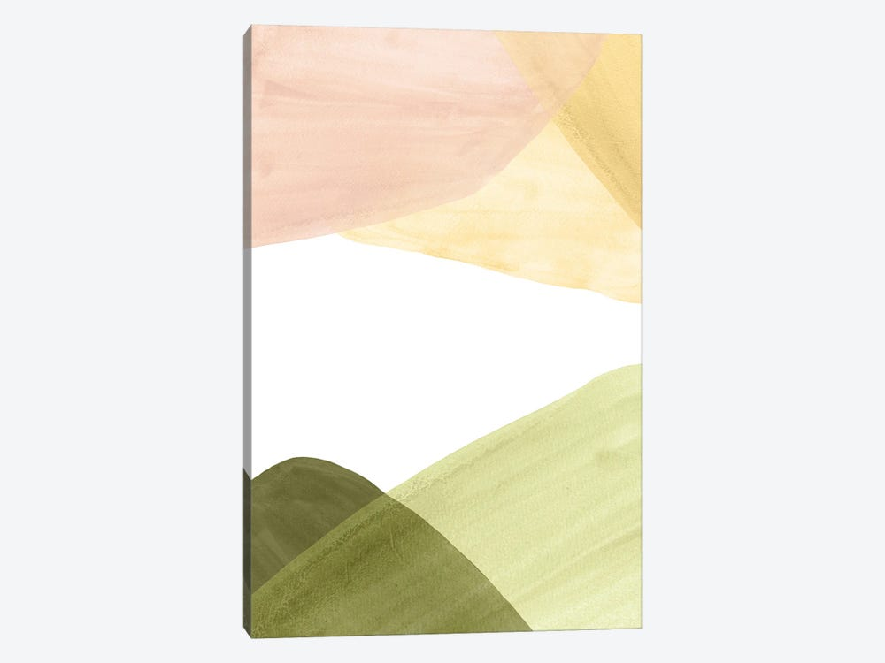 Abstract Landscape In Pastel Tones by Whales Way 1-piece Canvas Wall Art