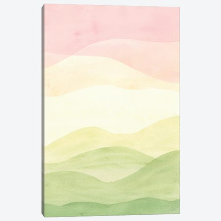 Abstract Landscape, Pastel Pink Sky Canvas Print #WWY276} by Whales Way Canvas Print