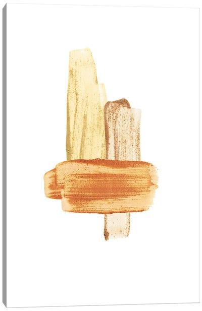 Terracotta Brush Strokes Canvas Art Print