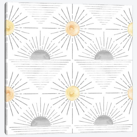 Abstract Sun Pattern Canvas Print #WWY304} by Whales Way Canvas Art Print