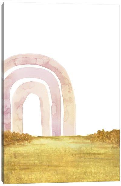 Abstract Landscape, Pastel Rainbow Canvas Art Print