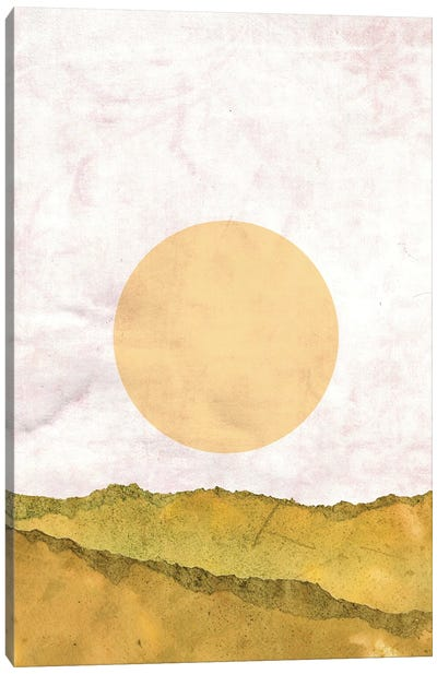 Abstract Landscape And Sun Canvas Art Print