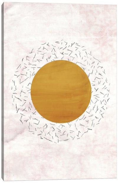 Abstract Rust Mustard Sun Canvas Art Print