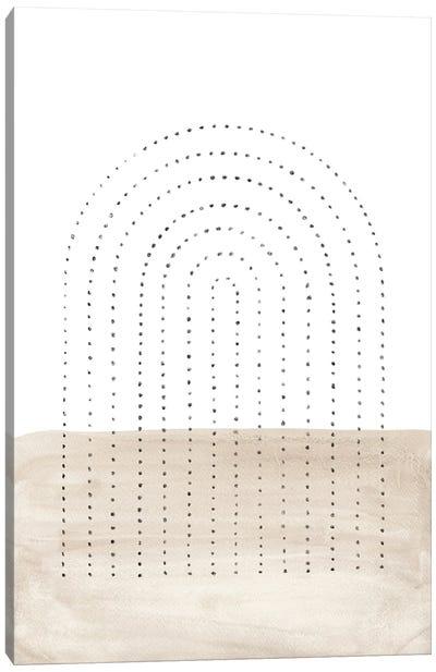 Neutral Arch Dots Canvas Art Print