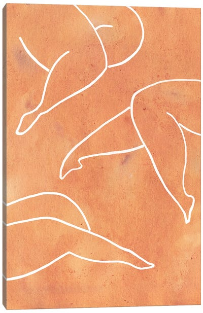 Orange Female Legs Canvas Art Print
