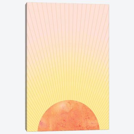 Orange Sun Canvas Print #WWY34} by Whales Way Canvas Wall Art
