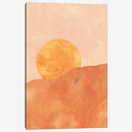 Sun In The Desert Canvas Print #WWY37} by Whales Way Canvas Art