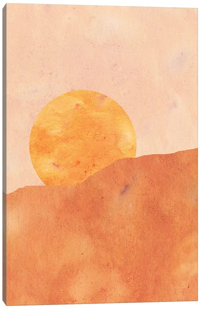 Sun In The Desert Canvas Art Print