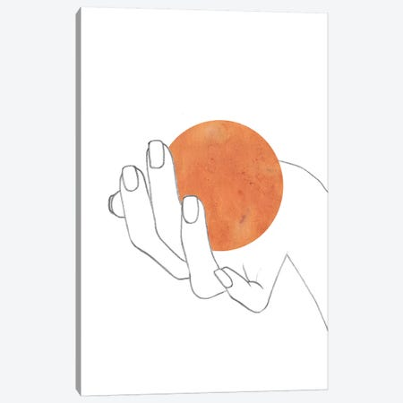 Sun In The Hand Canvas Print #WWY38} by Whales Way Art Print