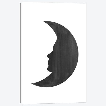Woman Moon Canvas Print #WWY43} by Whales Way Canvas Artwork