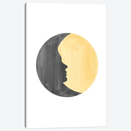 Woman Moon II Canvas Print #WWY46} by Whales Way Art Print