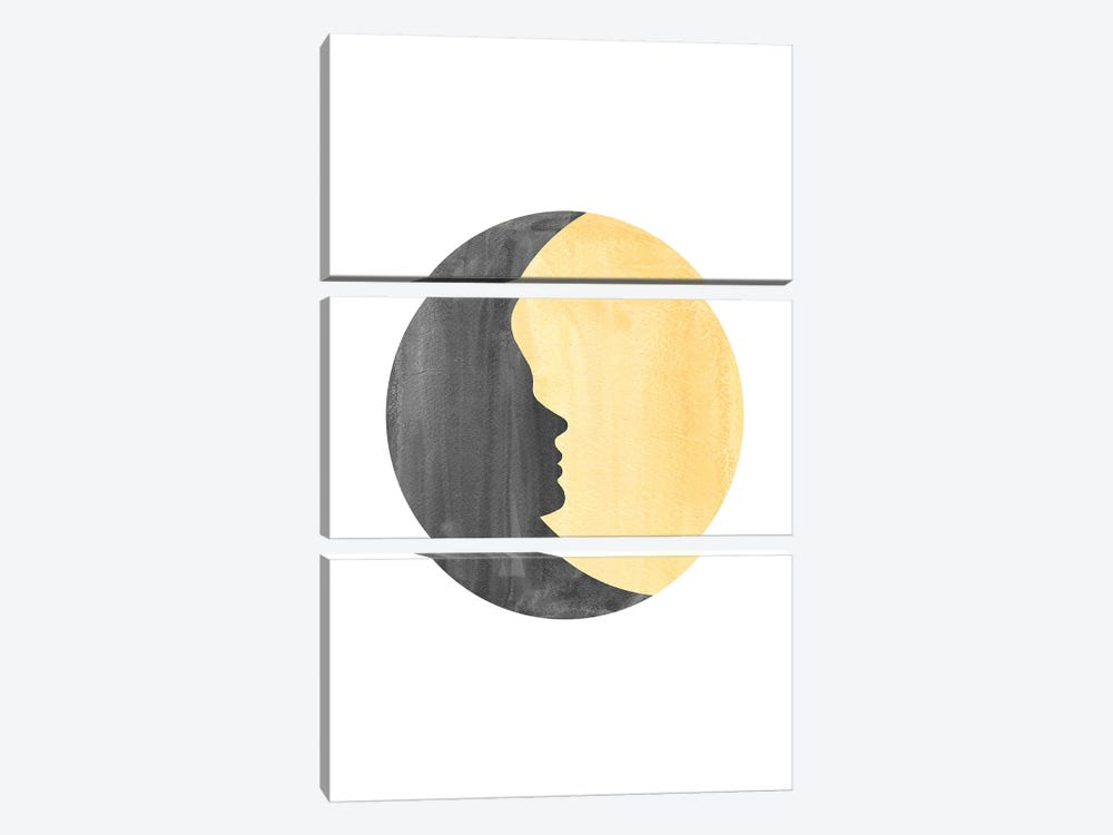 Woman Moon II by Whales Way 3-piece Canvas Print