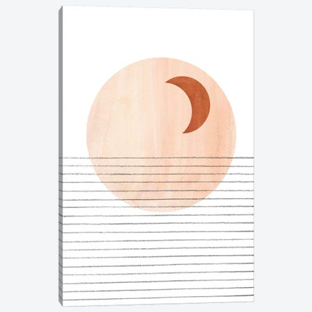 Abstract Crescent Canvas Print #WWY50} by Whales Way Art Print