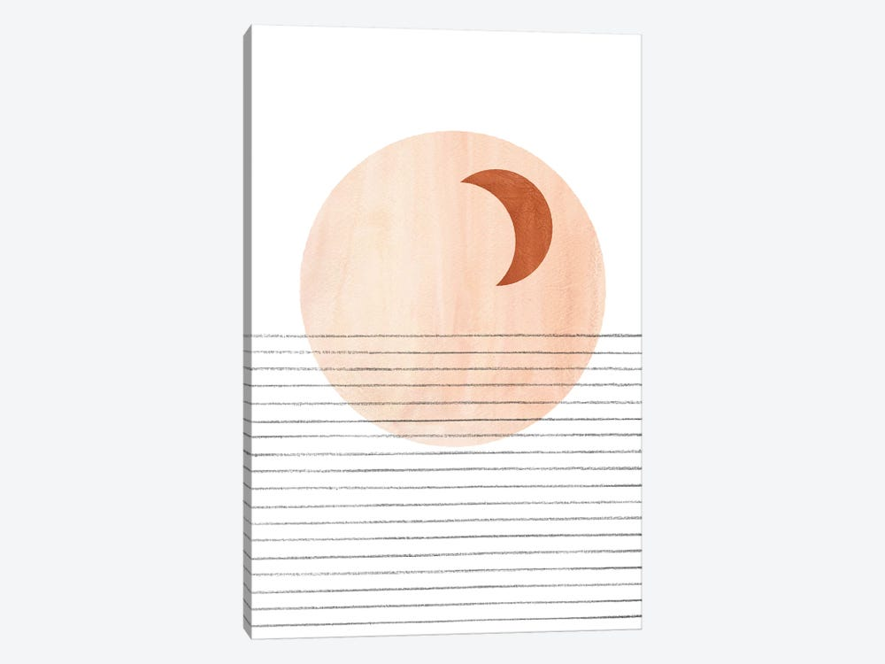 Abstract Crescent by Whales Way 1-piece Canvas Artwork