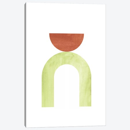 Mid Century Modern Shapes Canvas Print #WWY57} by Whales Way Canvas Wall Art