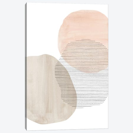 Modern Neutral Shapes Canvas Print #WWY59} by Whales Way Canvas Print