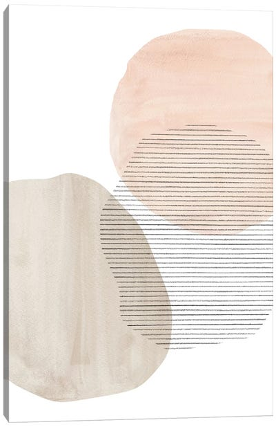 Modern Neutral Shapes Canvas Art Print