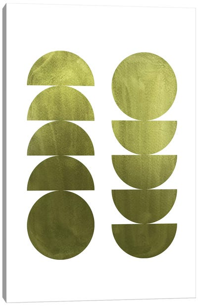 Green Geometric Shapes Canvas Art Print