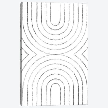 Abstract Line Art Canvas Print #WWY61} by Whales Way Canvas Art