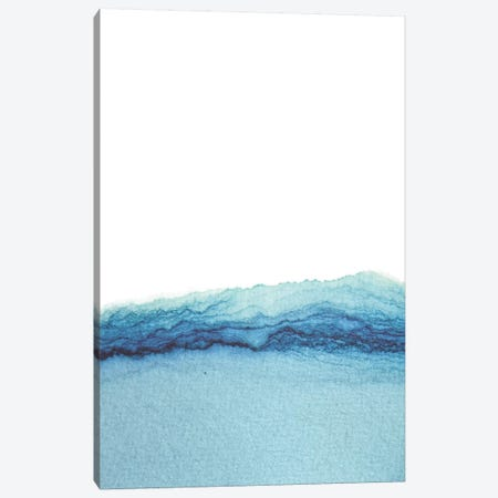 Abstract Watercolor Sea Canvas Print #WWY67} by Whales Way Canvas Art Print