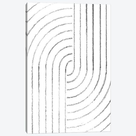 Abstract Curved Lines Canvas Print #WWY68} by Whales Way Canvas Wall Art