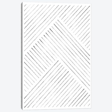 Geometric Line Art Canvas Print #WWY69} by Whales Way Canvas Artwork