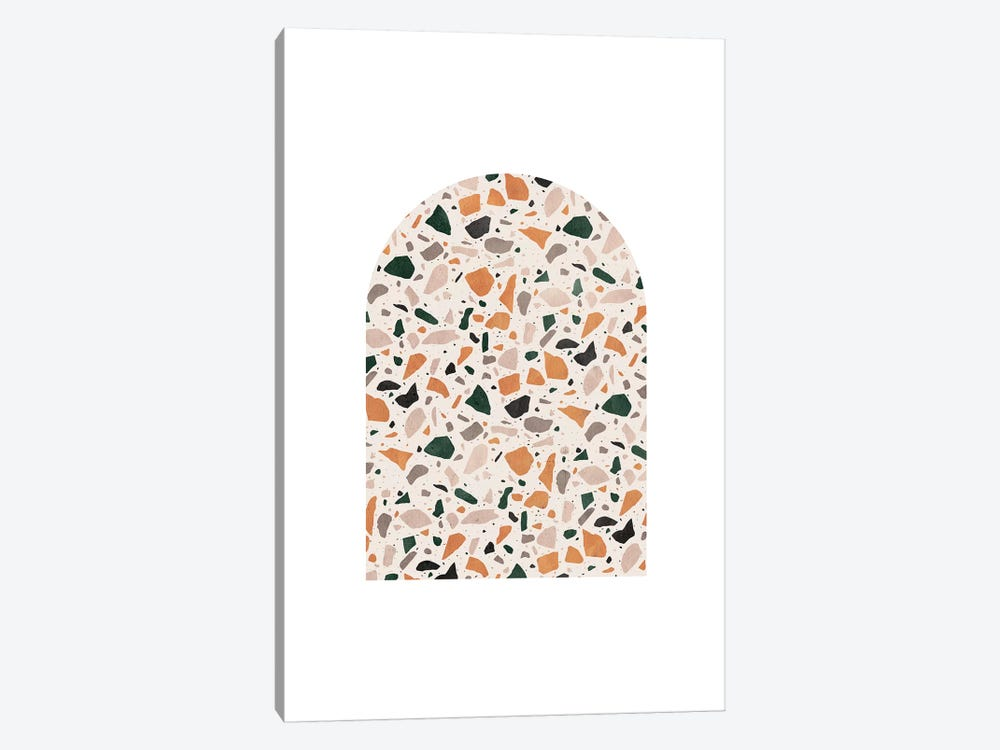Terrazzo Marble Art by Whales Way 1-piece Canvas Print