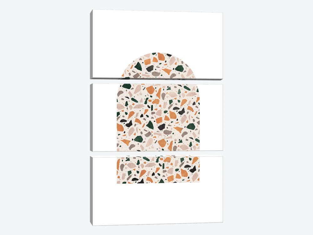Terrazzo Marble Art by Whales Way 3-piece Canvas Art Print