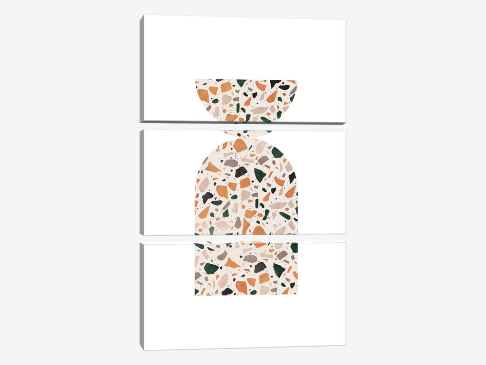 Abstract Terrazzo by Whales Way 3-piece Canvas Art
