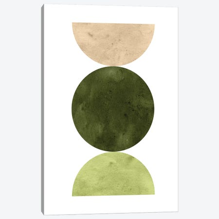 Abstract Green Art Canvas Print #WWY75} by Whales Way Canvas Artwork