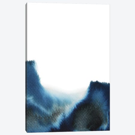 Navy Watercolor Canvas Print #WWY77} by Whales Way Canvas Art