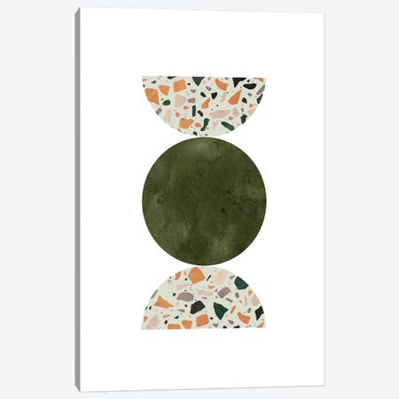 Terrazzo Circle Shapes Canvas Print #WWY79} by Whales Way Canvas Art Print