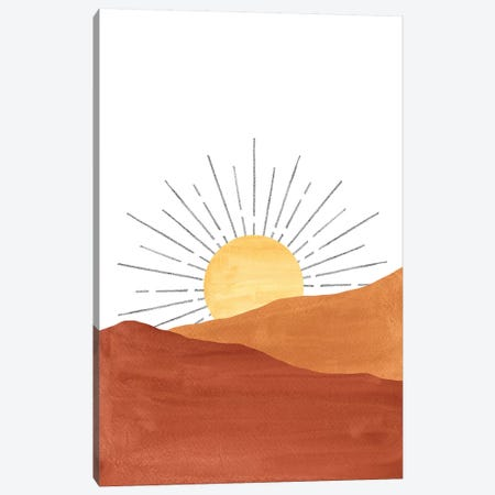 Abstract Sunset In The Desert Canvas Print #WWY7} by Whales Way Art Print