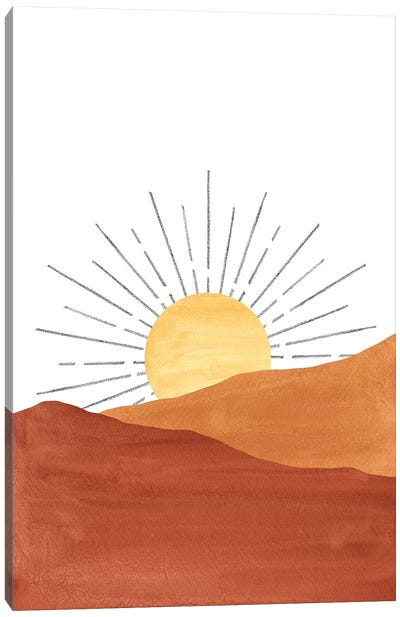 Abstract Sunset In The Desert Canvas Art Print