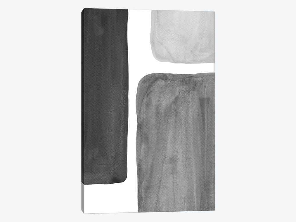 Black And White Shapes by Whales Way 1-piece Canvas Art