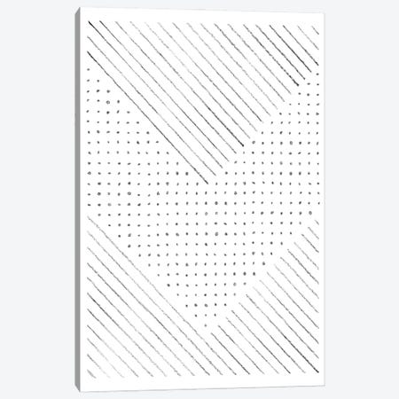 Lines and points art Canvas Print #WWY91} by Whales Way Art Print