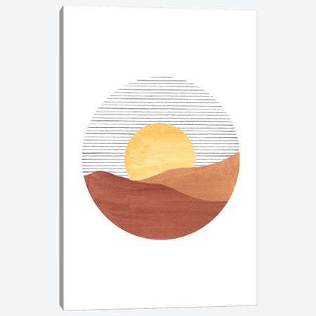 Abstract Sunset Canvas Print #WWY93} by Whales Way Art Print