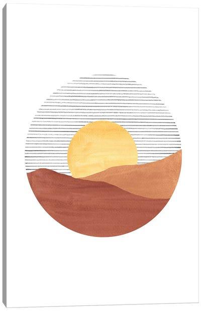 Abstract Sunset Canvas Art Print